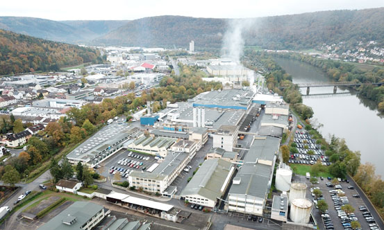JM's Wertheim facility in Germany makes a range of products, including glass mat facers.