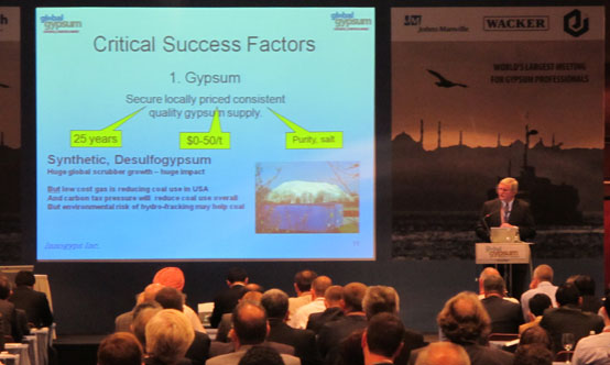 Bob Bruce, Innogyps, presenting at the Global Gypsum Conference & Exhibition 2012